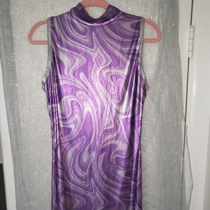 Halloween Purple Space Dress One Size